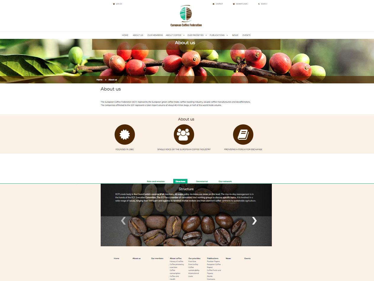 Joomla website voor branche vereniging ECF